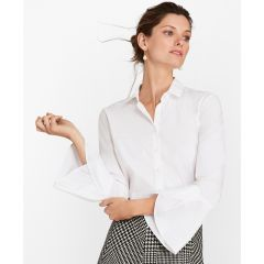 BLUSA MUJER TAILORED-FIT STRETCH COTTON BELL-SLEEVE
