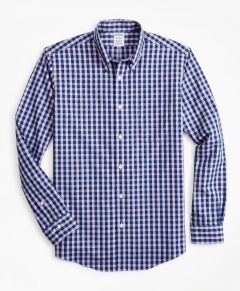 CAMISA HOMBRE STRETCH REGENT FITTED, NON-IRON GINGHAM