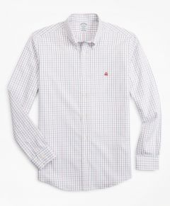 CAMISA HOMBRE STRETCH REGENT FITTED, NON-IRON WINDOWPANE