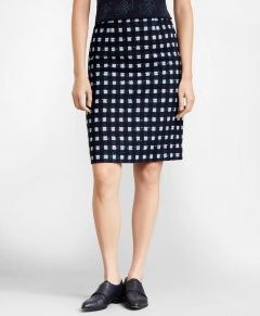 FALDA MUJER CHECKED BOUCLE A-LINE