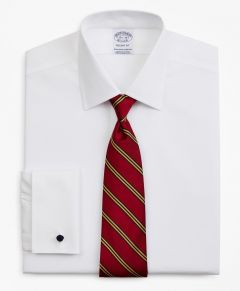 CAMISA HOMBRE STRETCH REGENT FITTED, NON-IRON PINPOINT AINSLEY COLLAR FRENCH CUFF PINPOINT