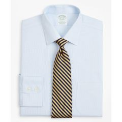 CAMISA HOMBRE STRETCH MILANO SLIM-FIT DRESS SHIRT, NON-IRON TWILL AINSLEY COLLAR MICRO-CHECK
