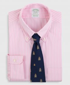 CAMISA HOMBRE NON-IRON MILANO FIT OXFORD PINPOINT STRIPED DRESS SHIRT